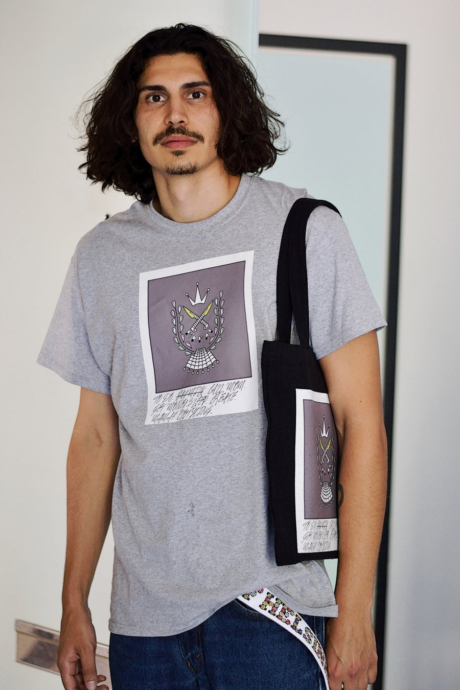 Image of MAMAF POLAROID TEE (GREY)