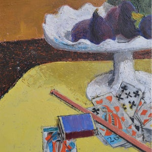 Image of 1962 Oil Painting, 'Figs and Cards,'  Pierre GUYÉNOT