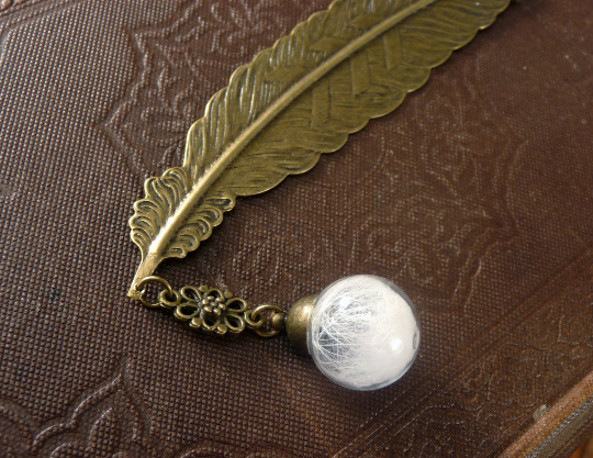 Image of Wolf Fur and Feather Bookmark