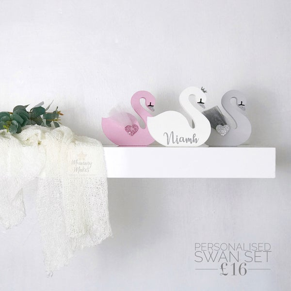 Image of Personalised Swan trio