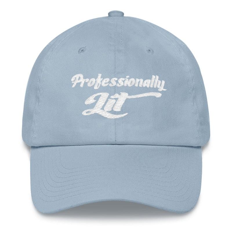 8ec6faa6843 Image of Professionally Lit Hat (Sky Blue White)