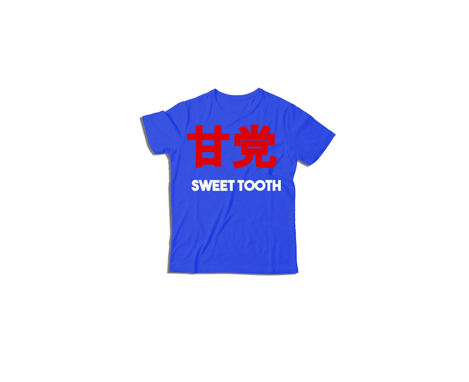 Image of Amato Kids Tee Royal Blue W White and Red