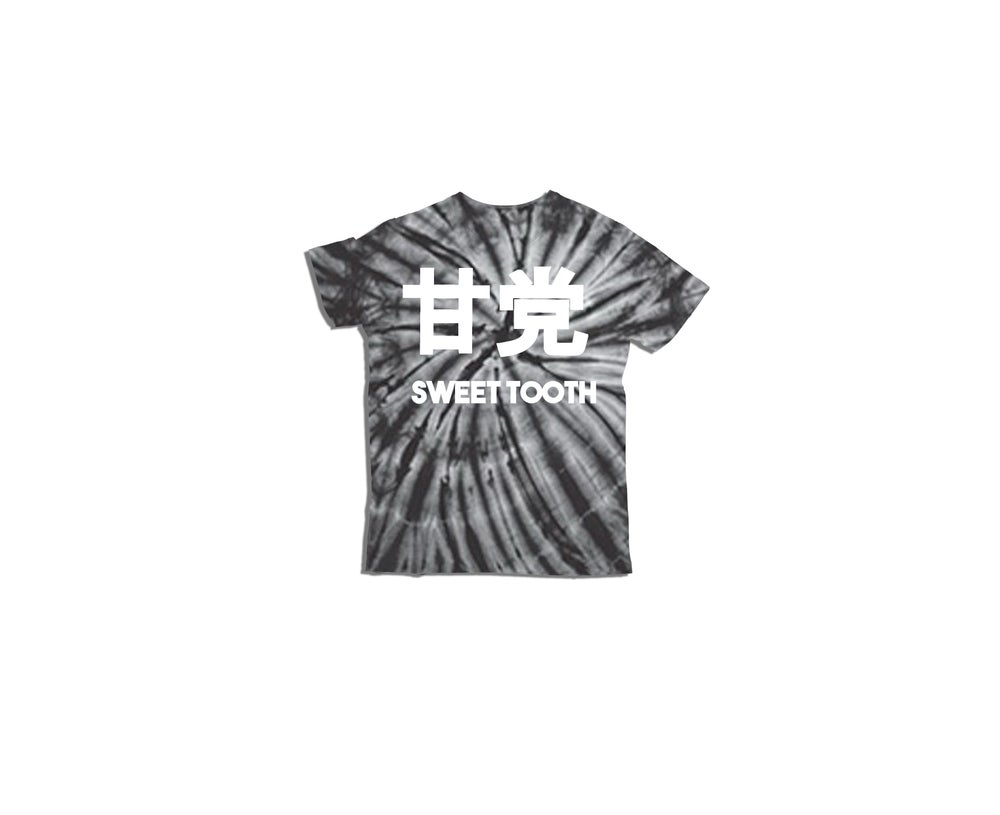 Image of Amato Kids Tee Black Tye Dye Swirl