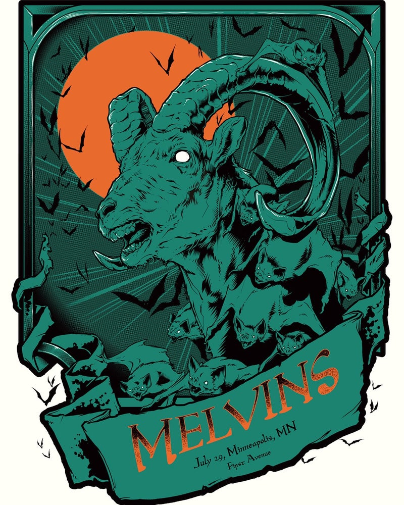 Image of (the) Melvins Gig Poster