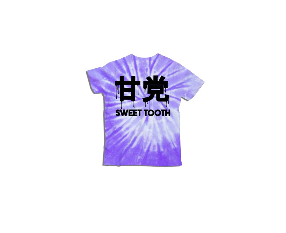 Image of Chelsey Drip Kids Tee Tye Dye Swirl Purple