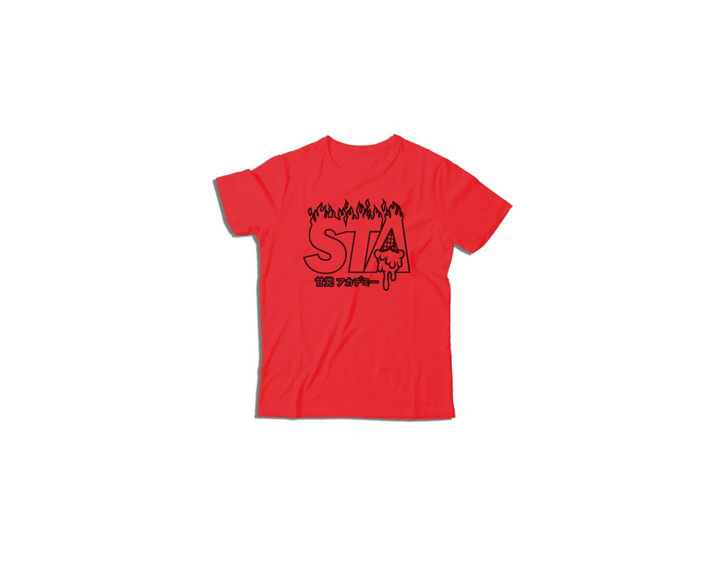Image of Kids Flame James Tee Red W Black