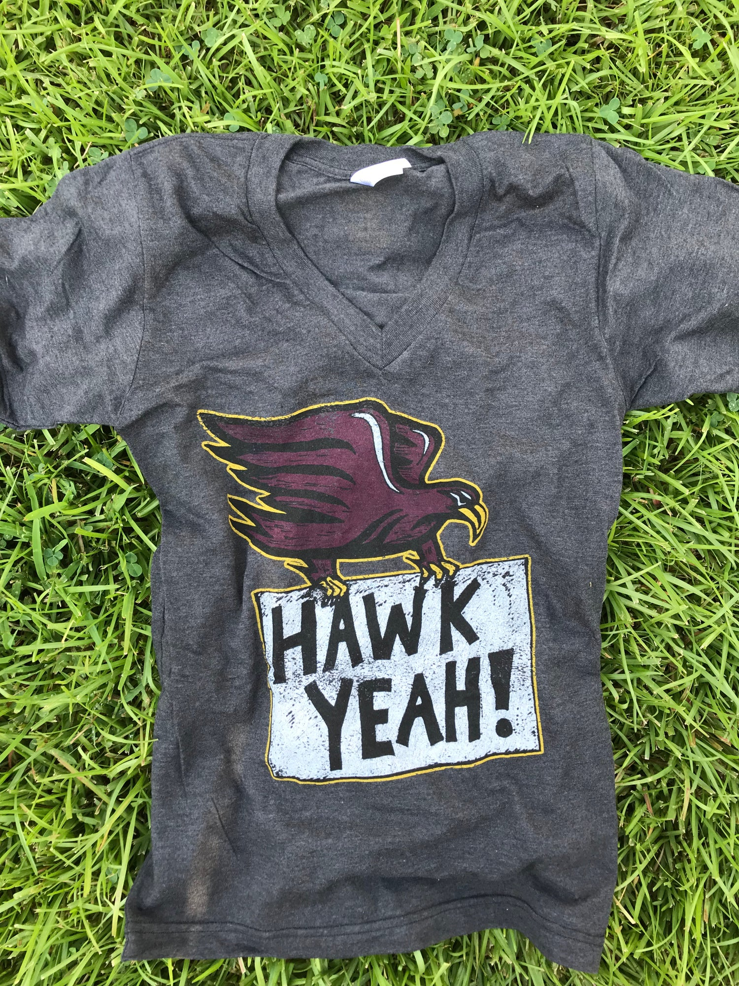 Image of Adult Hawk Yeah V-Neck Tee