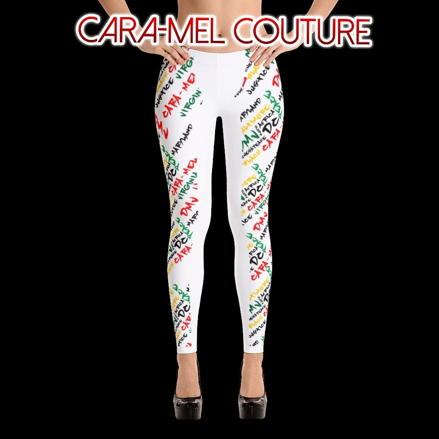 Image of Q.U.E.E.N. Graffiti Leggings