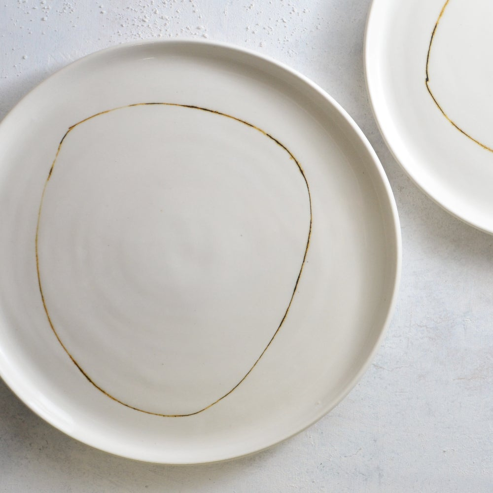 Image of Set of 2 porcelain plates
