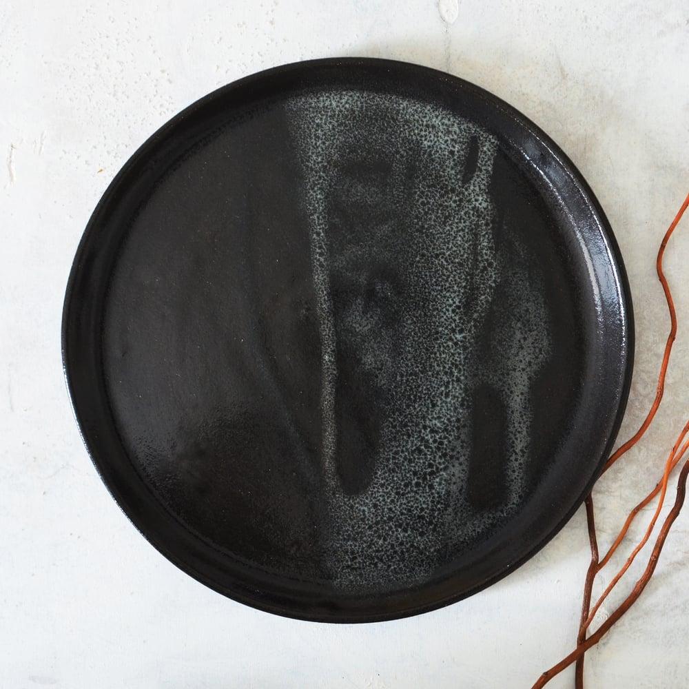 Image of Black serving plate