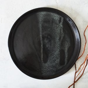 Image of Black serving plate