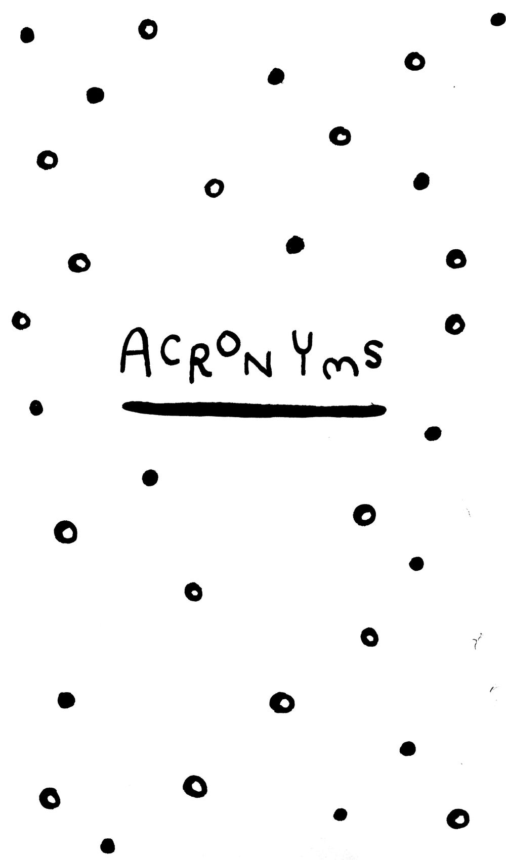 Image of Zine: Acronyms
