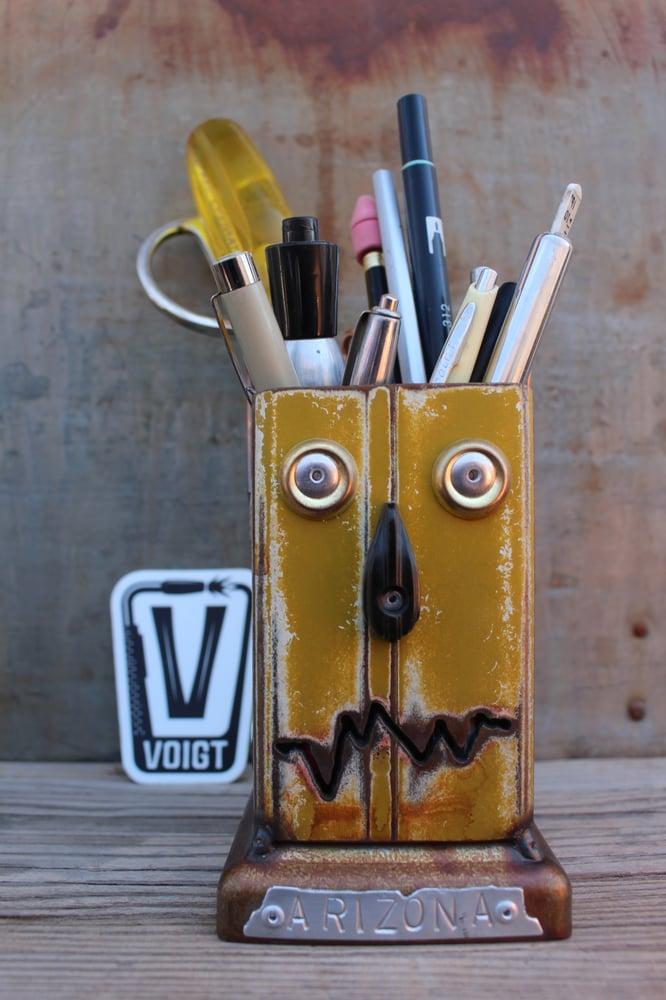 Image of Desk organizer: Large Modern Mustard Robot
