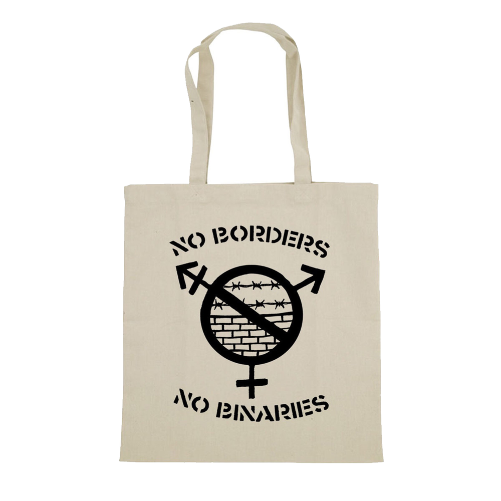 Image of NO BORDERS NO BINARIES TOTE