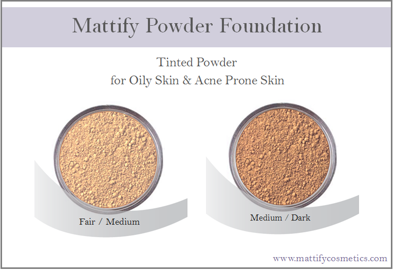 Image of Makeup for Oily Skin - Powder Foundation by Mattify Cosmetics