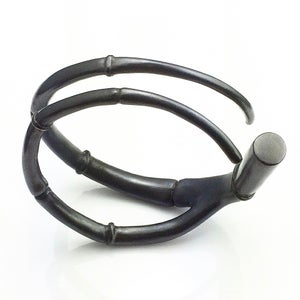 Image of Black Tendril Branch Bangle Bracelet 02