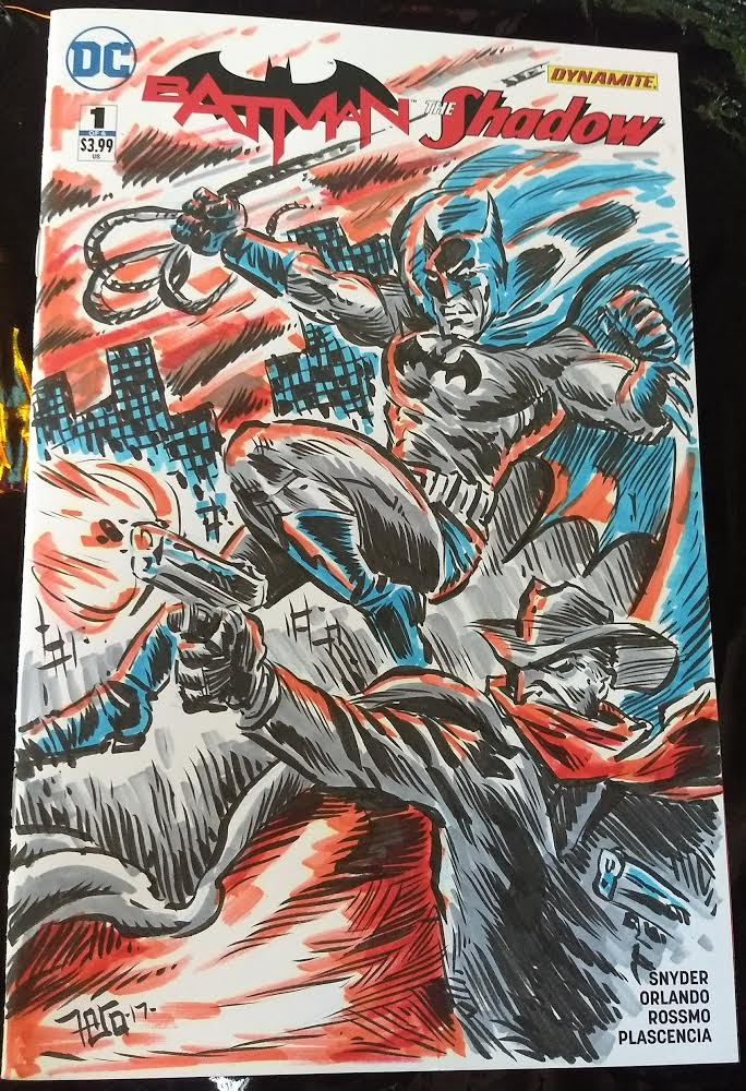 Image of Batman / Shadow sketch cover