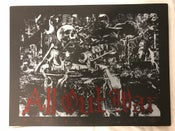 Image of ALL OUT WAR Dying Gods Red Silk Screen Print