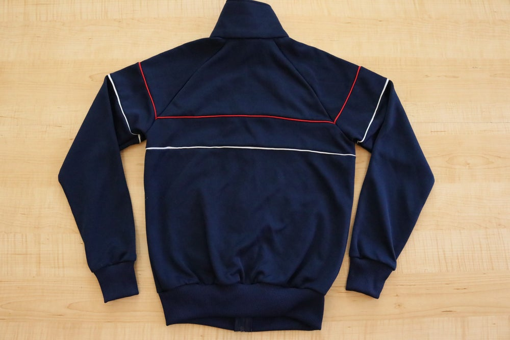 Image of Vintage 1980's Adidas Striped Zip Up Track Jacket Sz.S