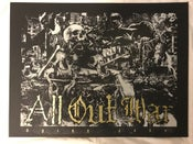 Image of ALL OUT WAR Dying Gods gold screen printed poster