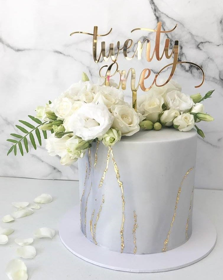 Xoxo Design Twenty One Swirl Cake Topper