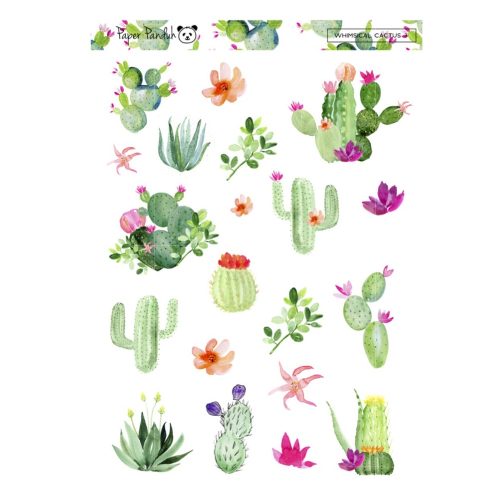 Image of Whimsical Cactus Deco Sheet
