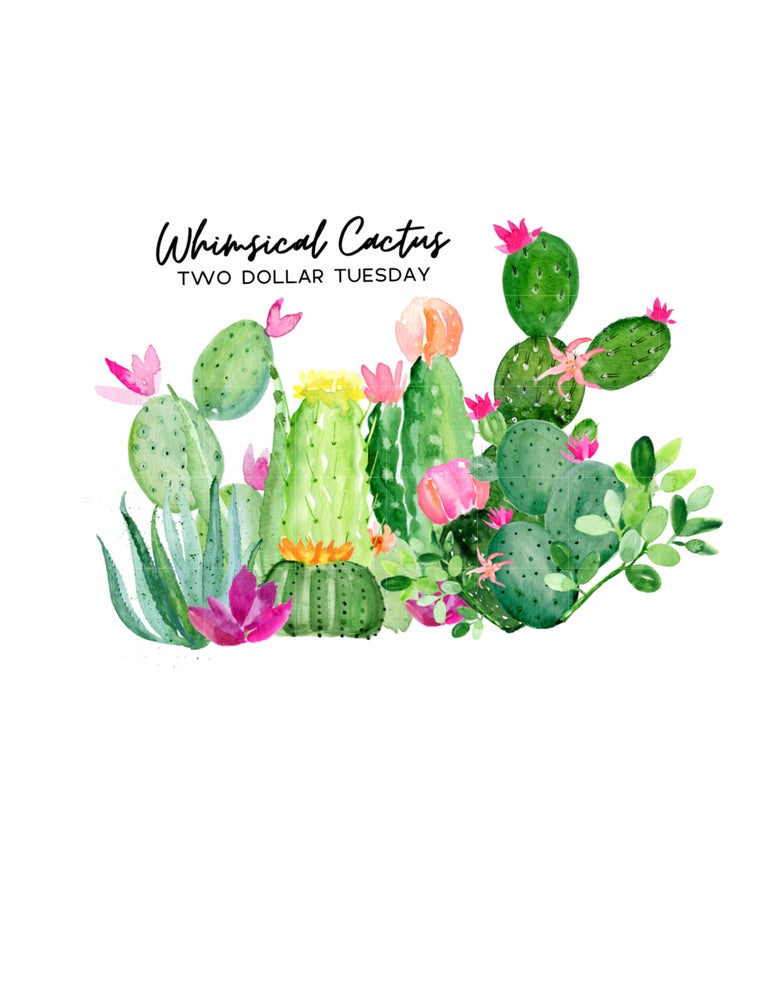 Image of Full Set Of Whimsical Cactus Collection