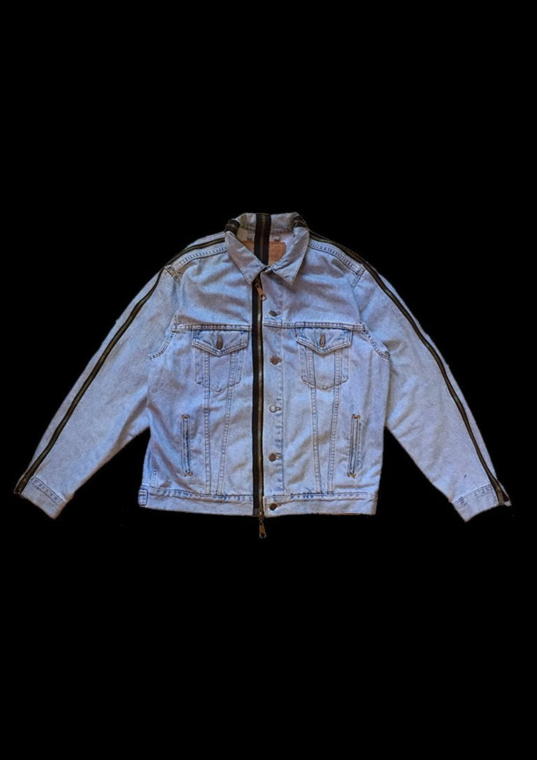 Image of VERTICAL DENIM JACKET ZIPPER