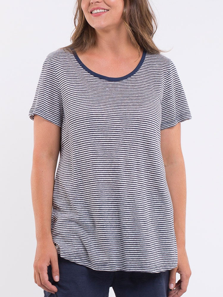 Image of ELM Fundamental S/S Tee - Linen Stripe