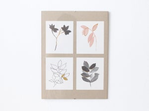 Four Flora - botanical art print - arminho