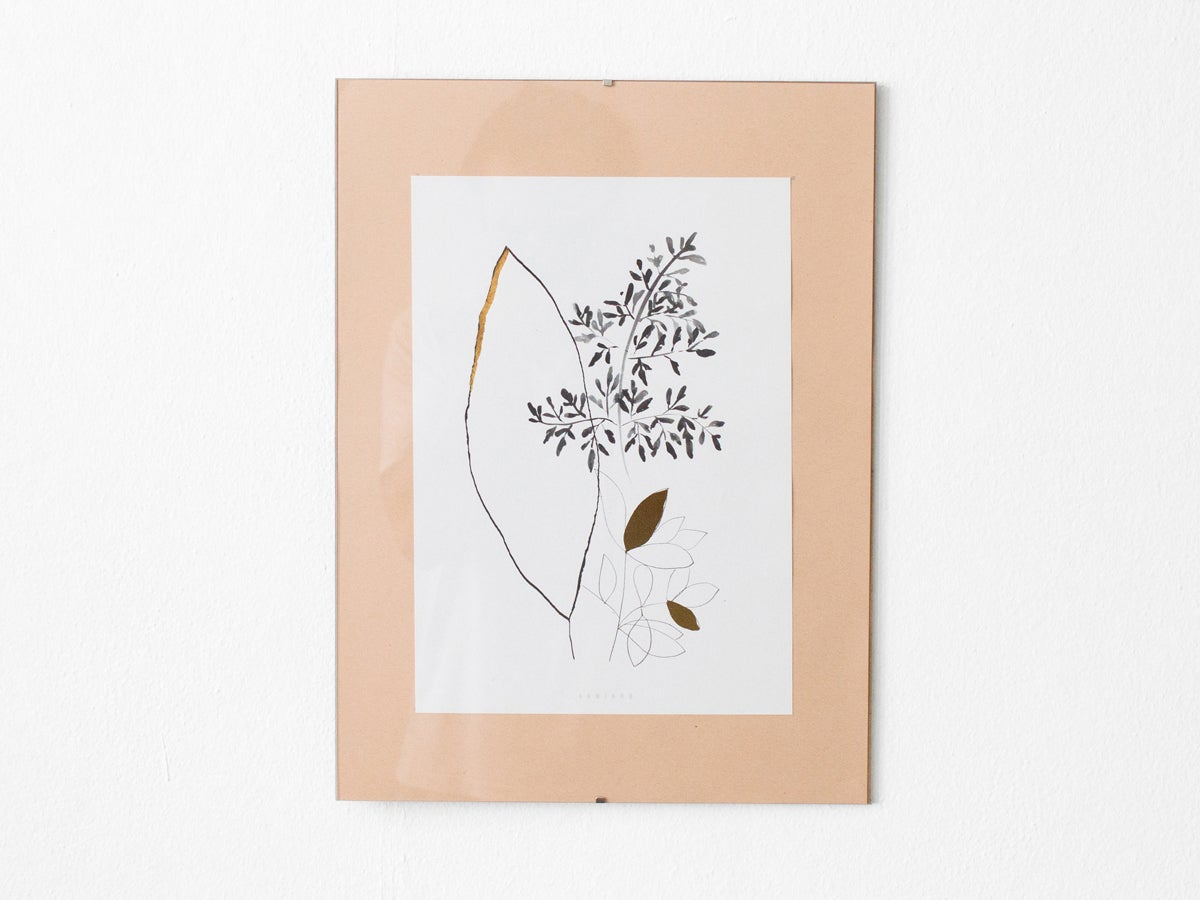 Image of Gold leaves - botanical art print #1