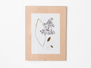 Gold leaves - botanical art print #1 - arminho