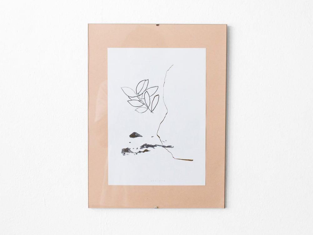 Image of Gold leaves - botanical art print #2
