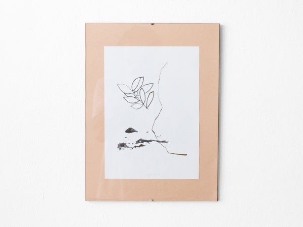 Gold leaves - botanical art print #2 - arminho