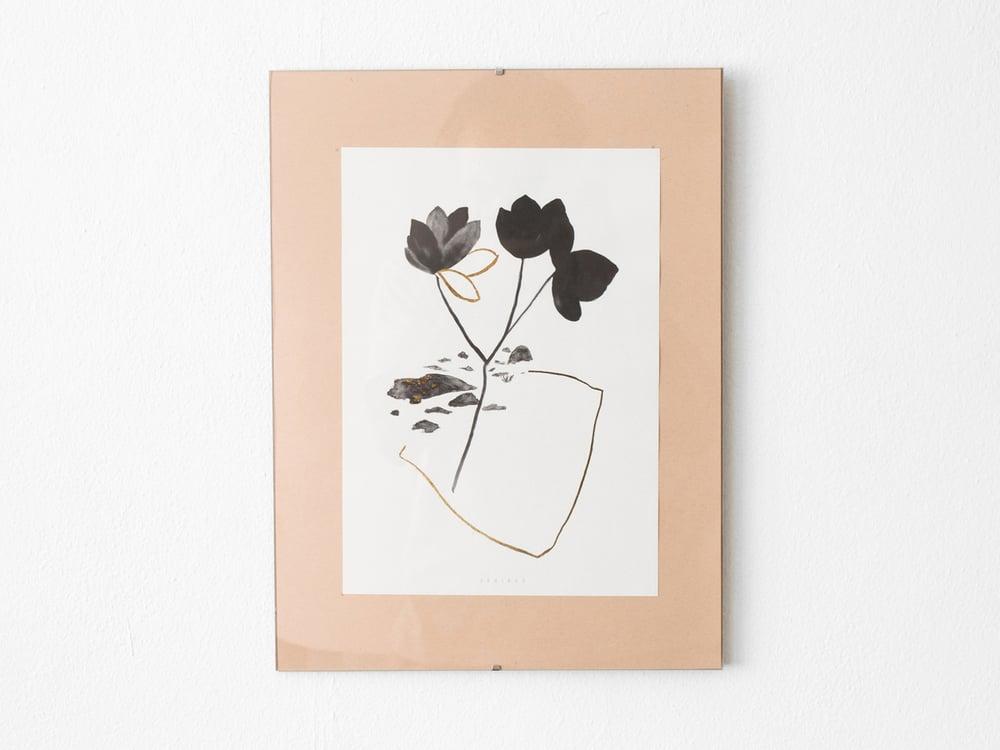 Image of Gold leaves - botanical art print #3