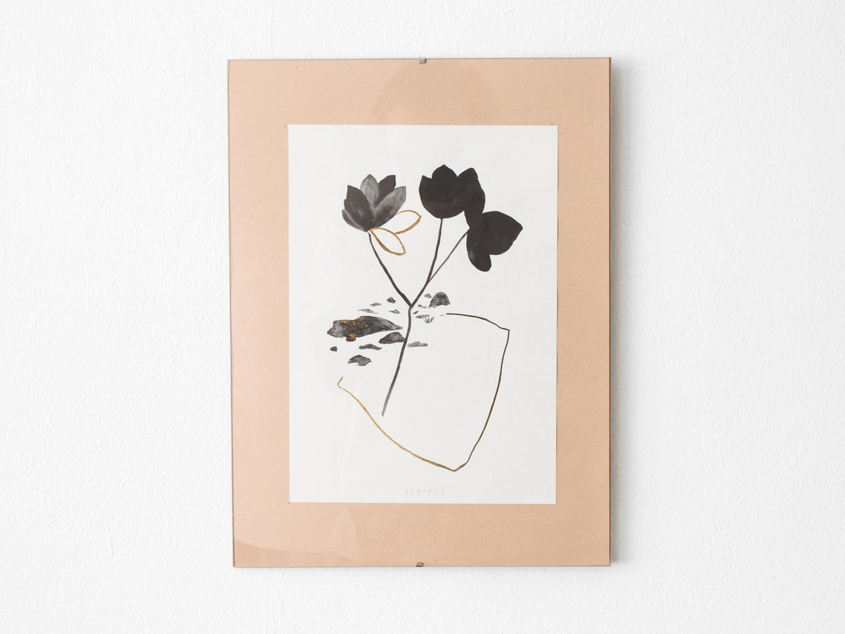 Image of Gold leaves - botanical art print #3