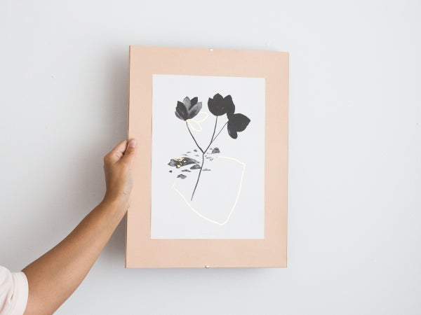 Gold leaves - botanical art print #3 - arminho