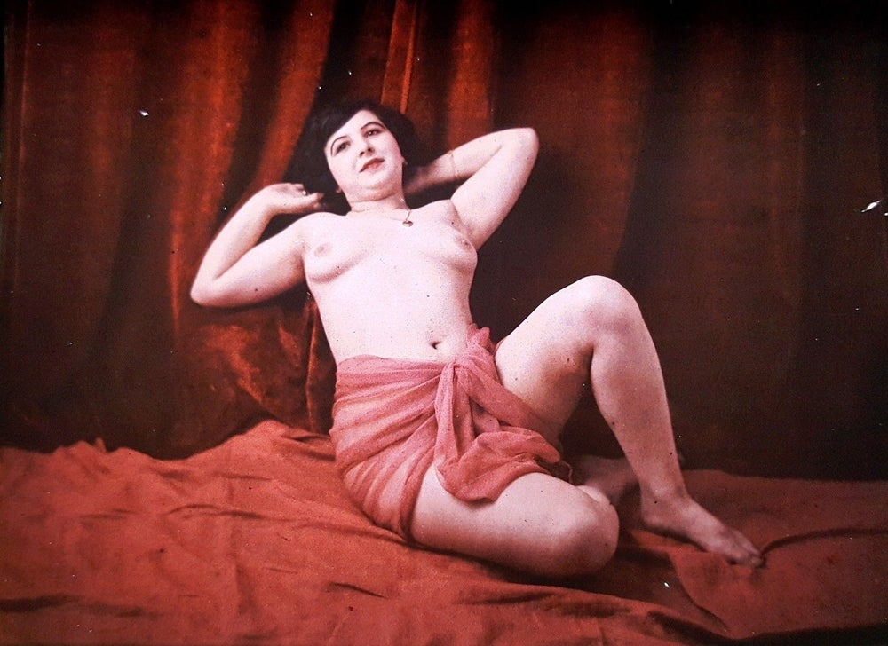 Image of autochrome of a nude woman, ca. 1920