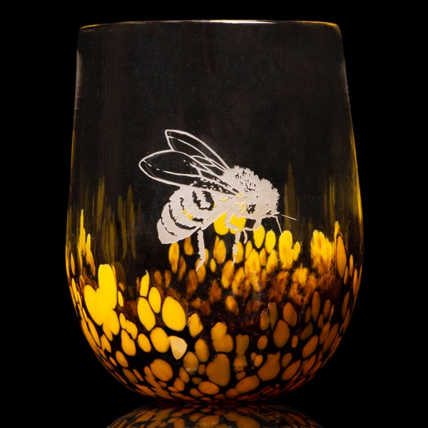 Image of ANIMAL TOTEM GLASS: HONEY BEE