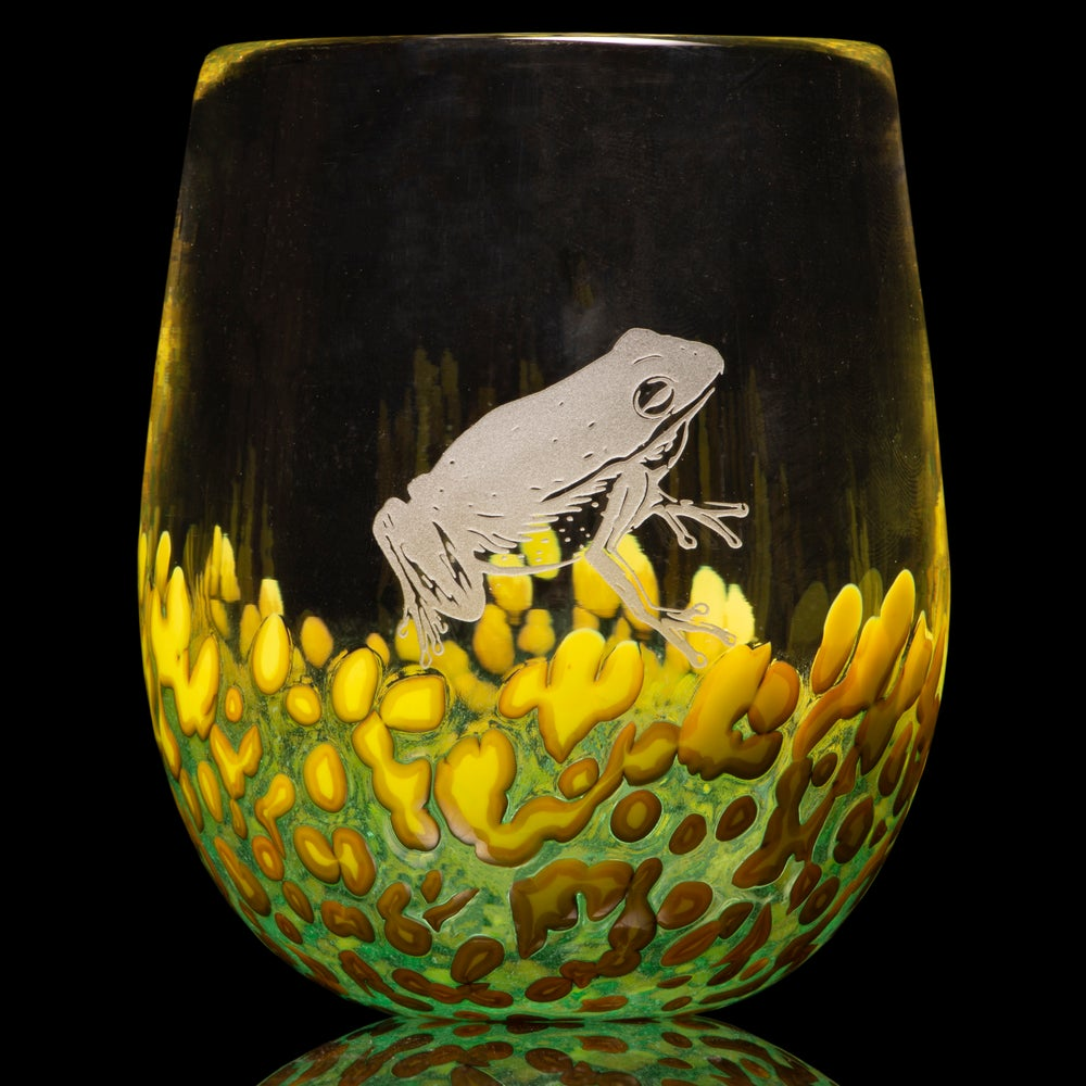 Image of ANIMAL TOTEM GLASS: FROG