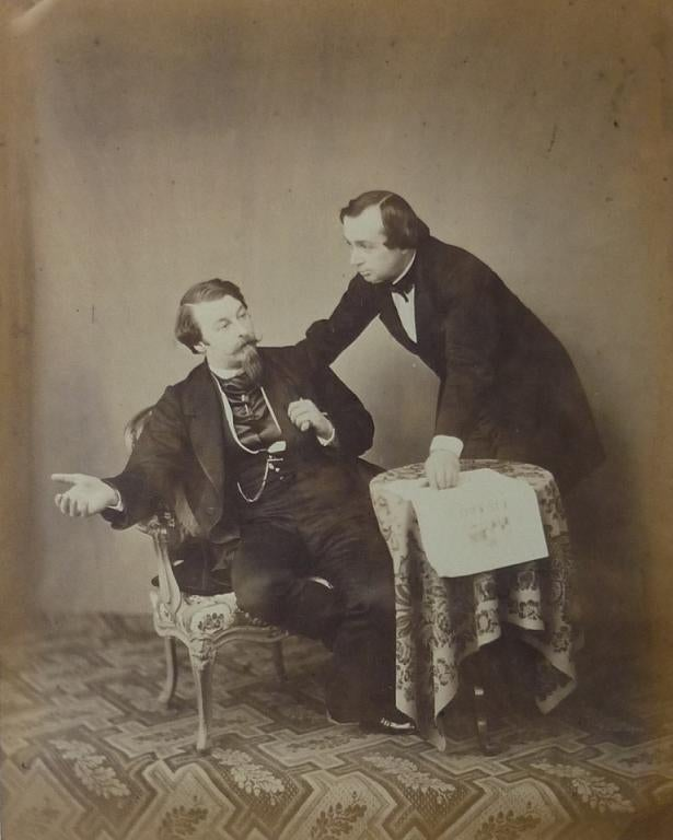 Image of Richebourg: large albumen print of two men