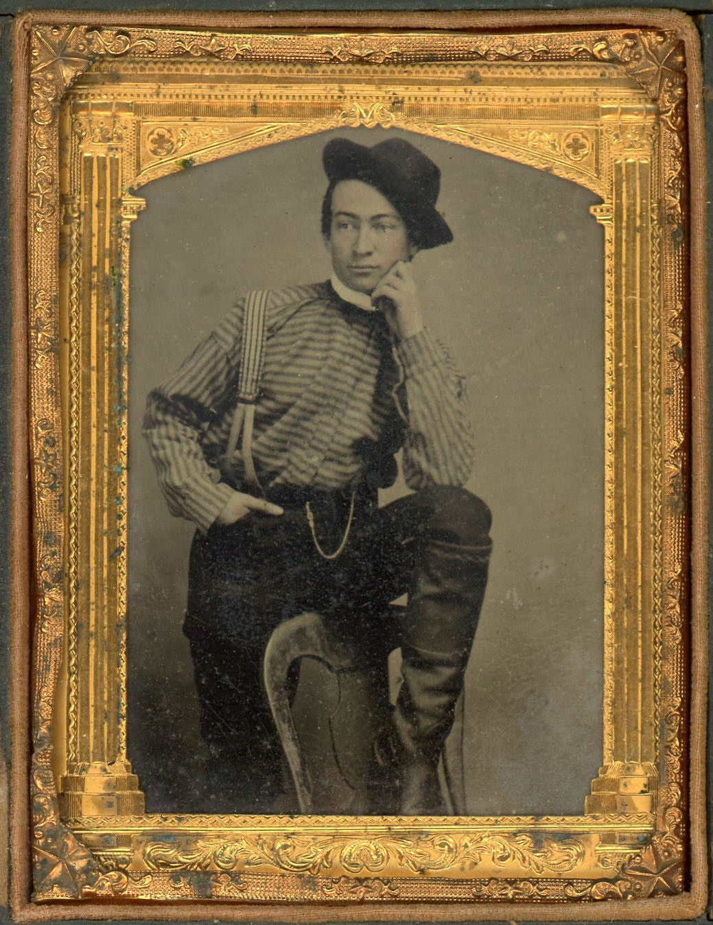 Image of Tintype of a young and handsome man