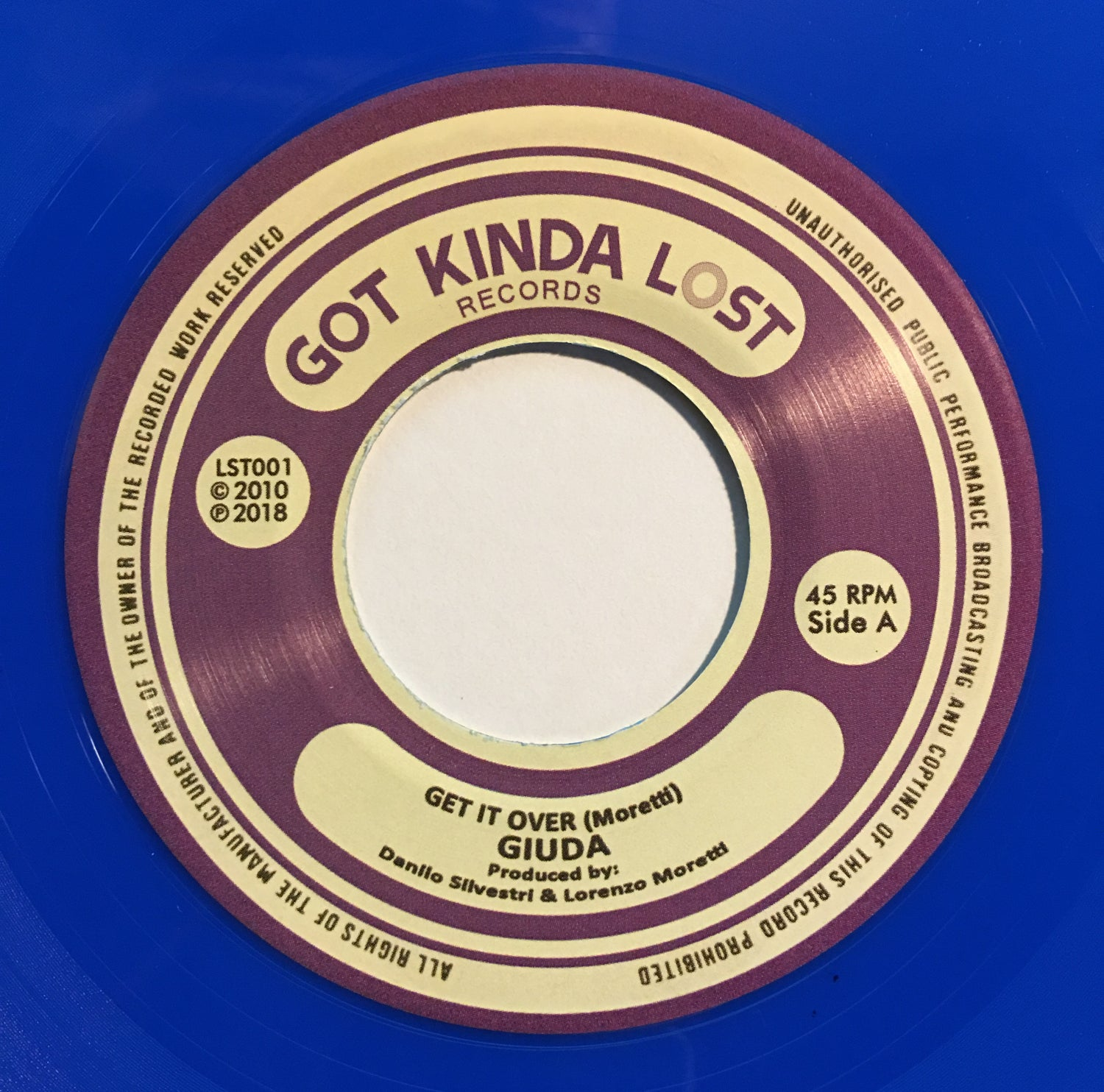 Image of GIUDA - Get It Over b/w Kidz Are Back 45 (Got Kinda Lost, 2018 - LST-001)