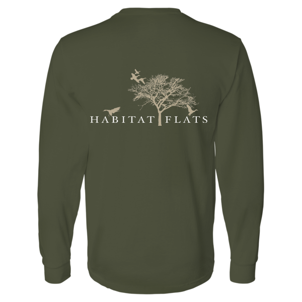 Image of Long Sleeve HF Military Green Tee