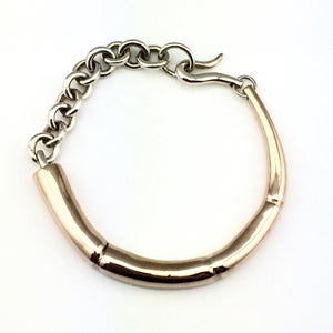 Image of TENDRIL BRACELET WITH SILVER LINKS