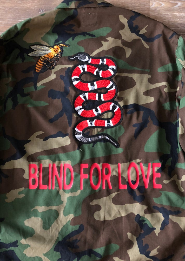 Image of BLIND FOR LOVE Camo Jacket