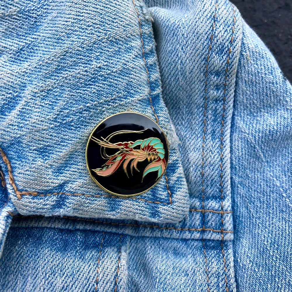 Image of 179 Lobster Lapel Pin