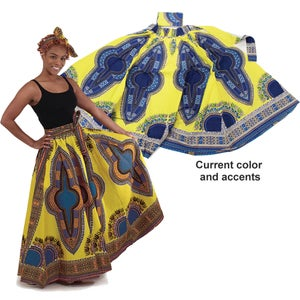 Image of Traditional Angelia Print Maxi Skirt