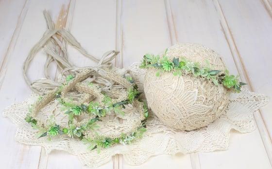 Image of Succulents Halo/Silk Tieback
