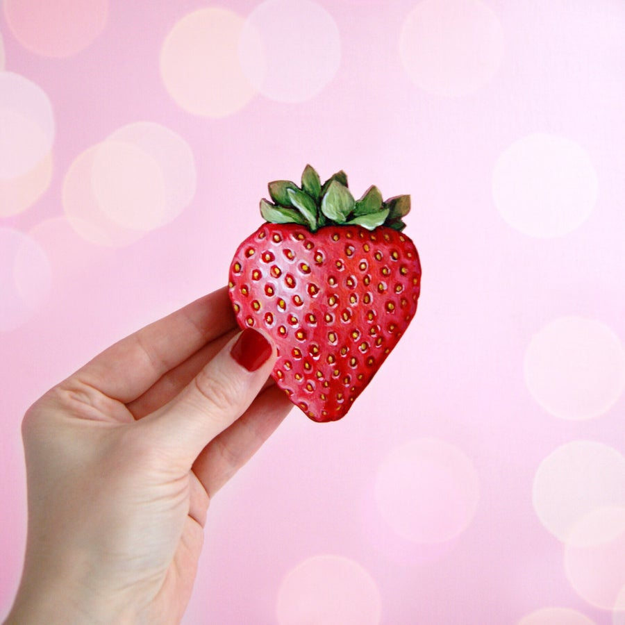 Image of Strawberry mini plaque